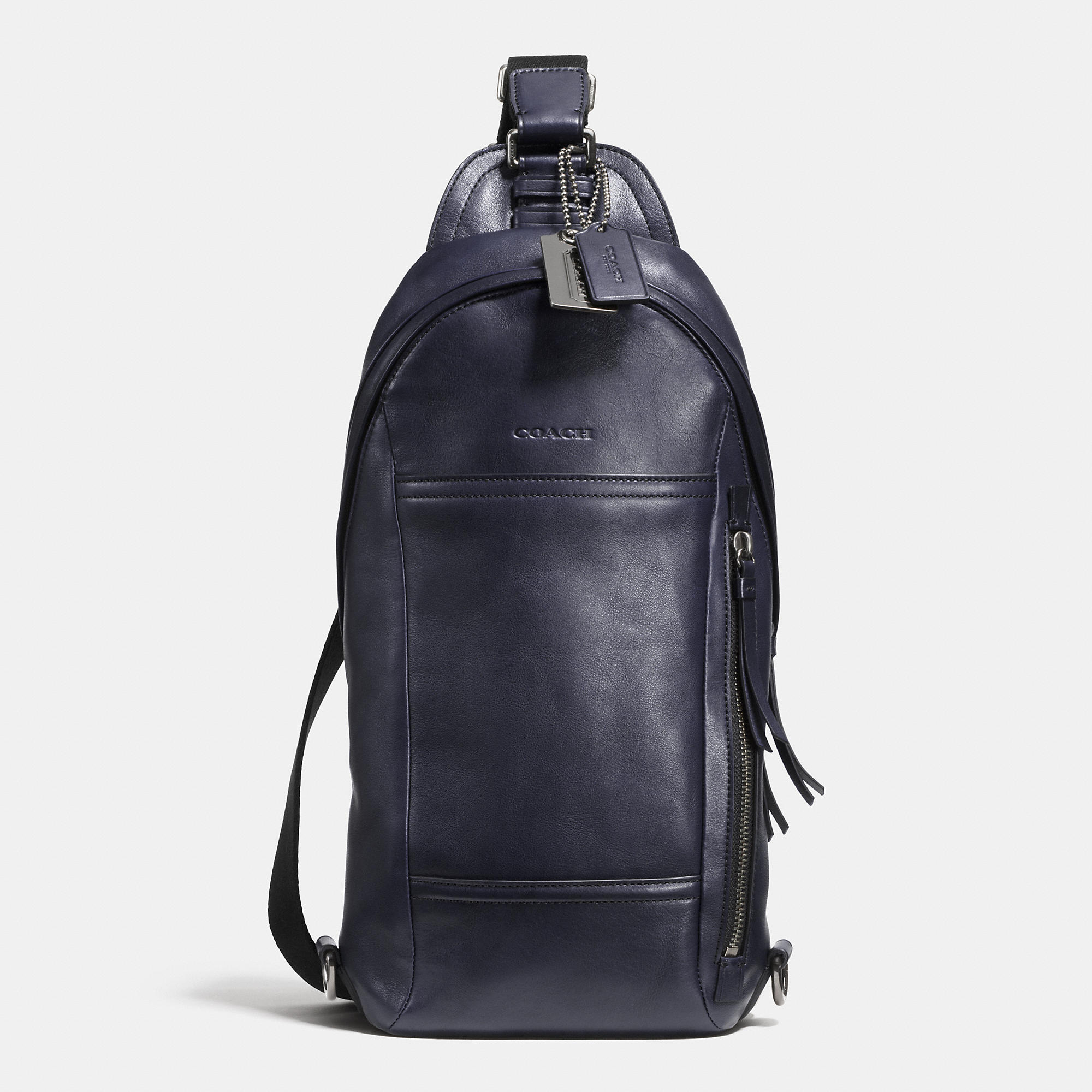 Lyst - COACH Bleecker Convertible Sling Pack In Leather in ...