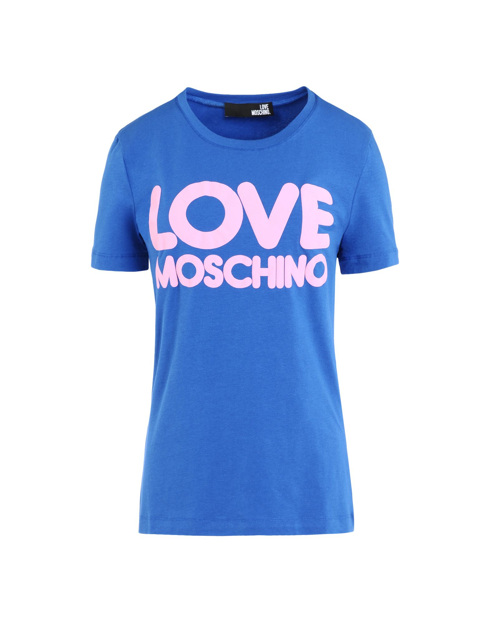 lyst love moschino short sleeve t shirts in blue. Black Bedroom Furniture Sets. Home Design Ideas