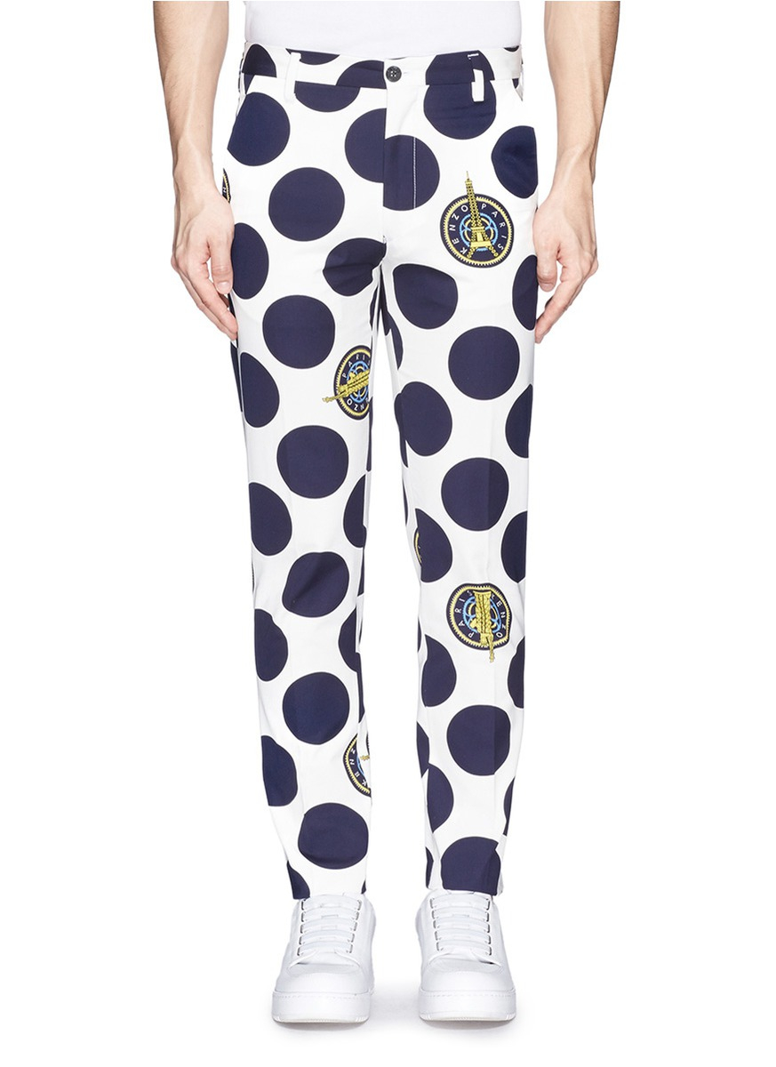 polka dot pants kenzo eiffel tower and statue of liberty polka dot 30737