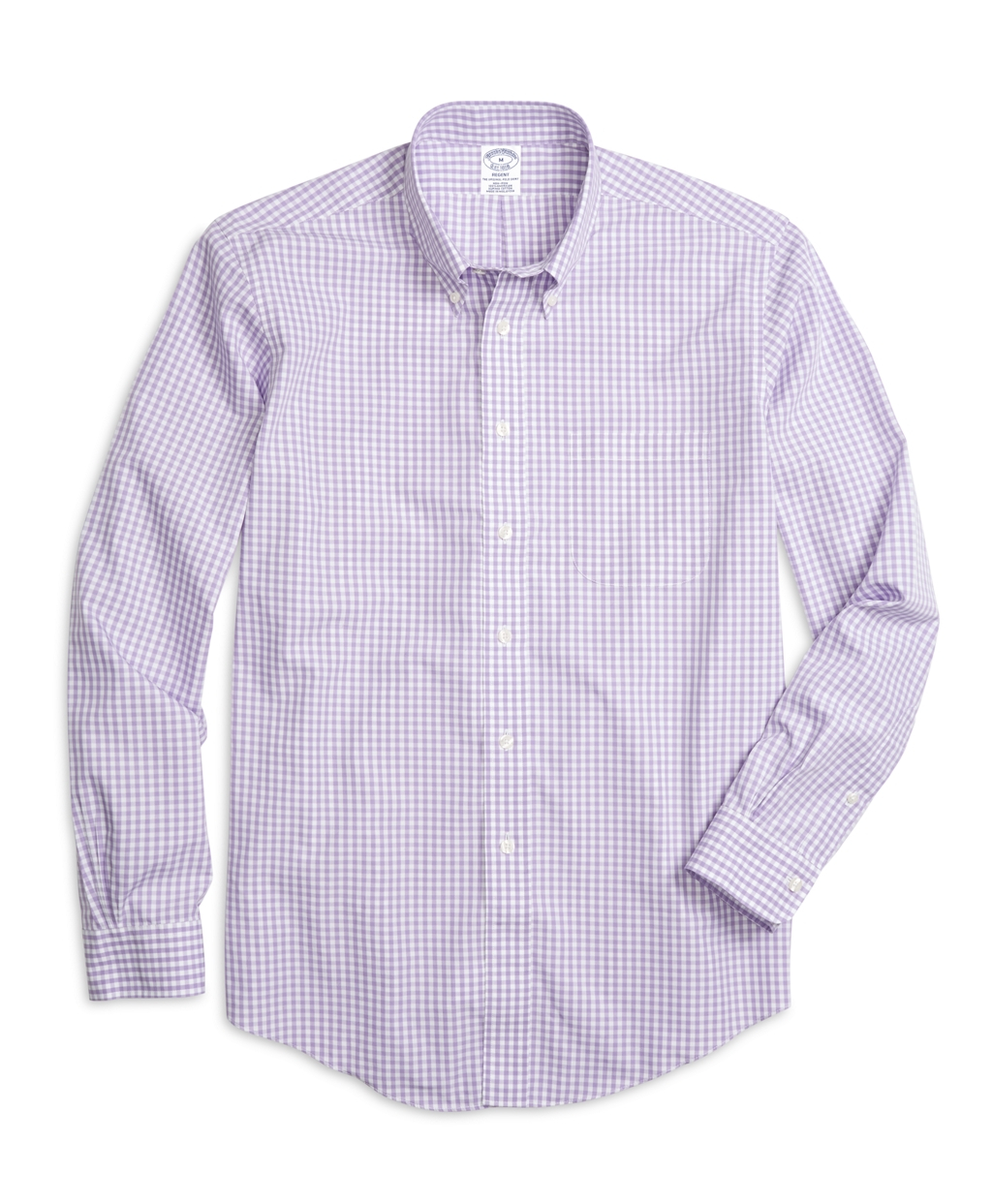 Brooks brothers non iron regent fit gingham sport shirt in for Brooks brothers non iron shirts review