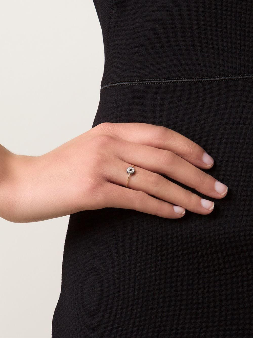 Sydney Evan Single Turquoise Cabochon Evil Eye Ring w/Diamonds JAjVC67