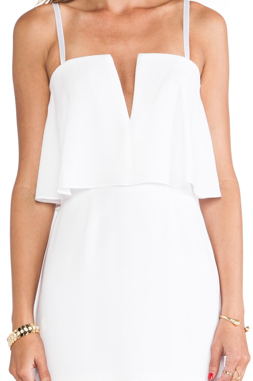 29bc5163d2d BCBGMAXAZRIA Kate Strapless Mini Dress in White - Lyst