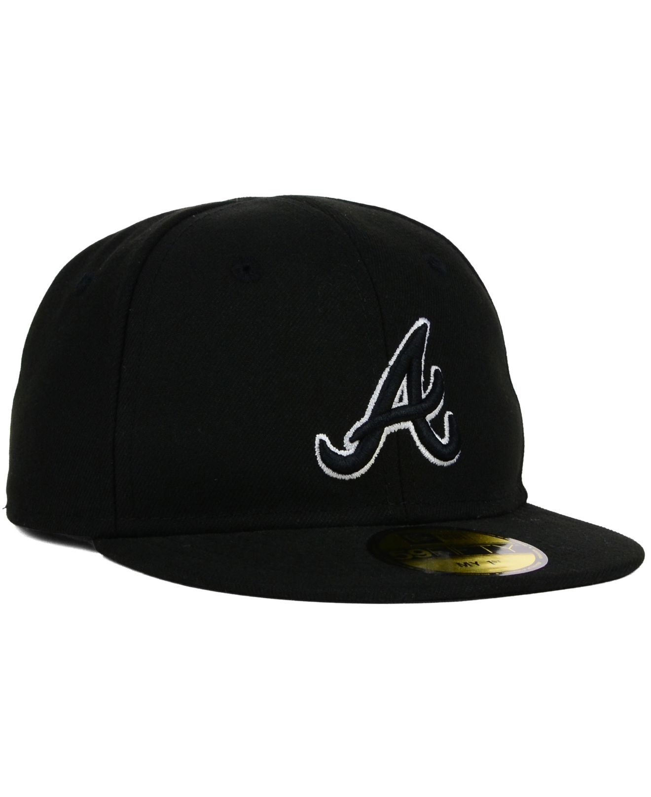 new product 36fbd 77e91 ... new zealand hat lyst ktz kids atlanta braves black and white 59fifty cap  in black 557d5