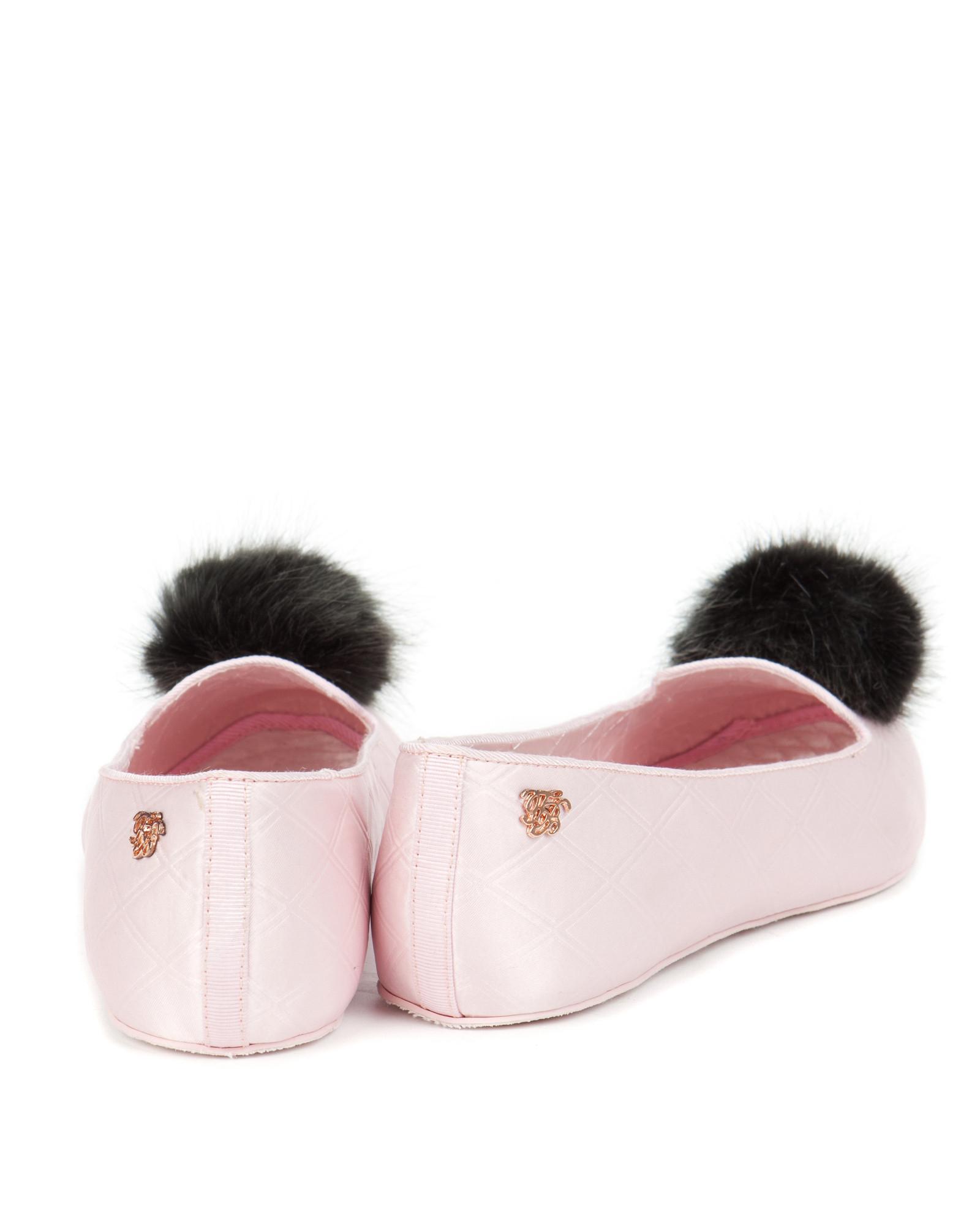104786af5fb338 Ted Baker Pom Pom Slippers in Pink - Lyst
