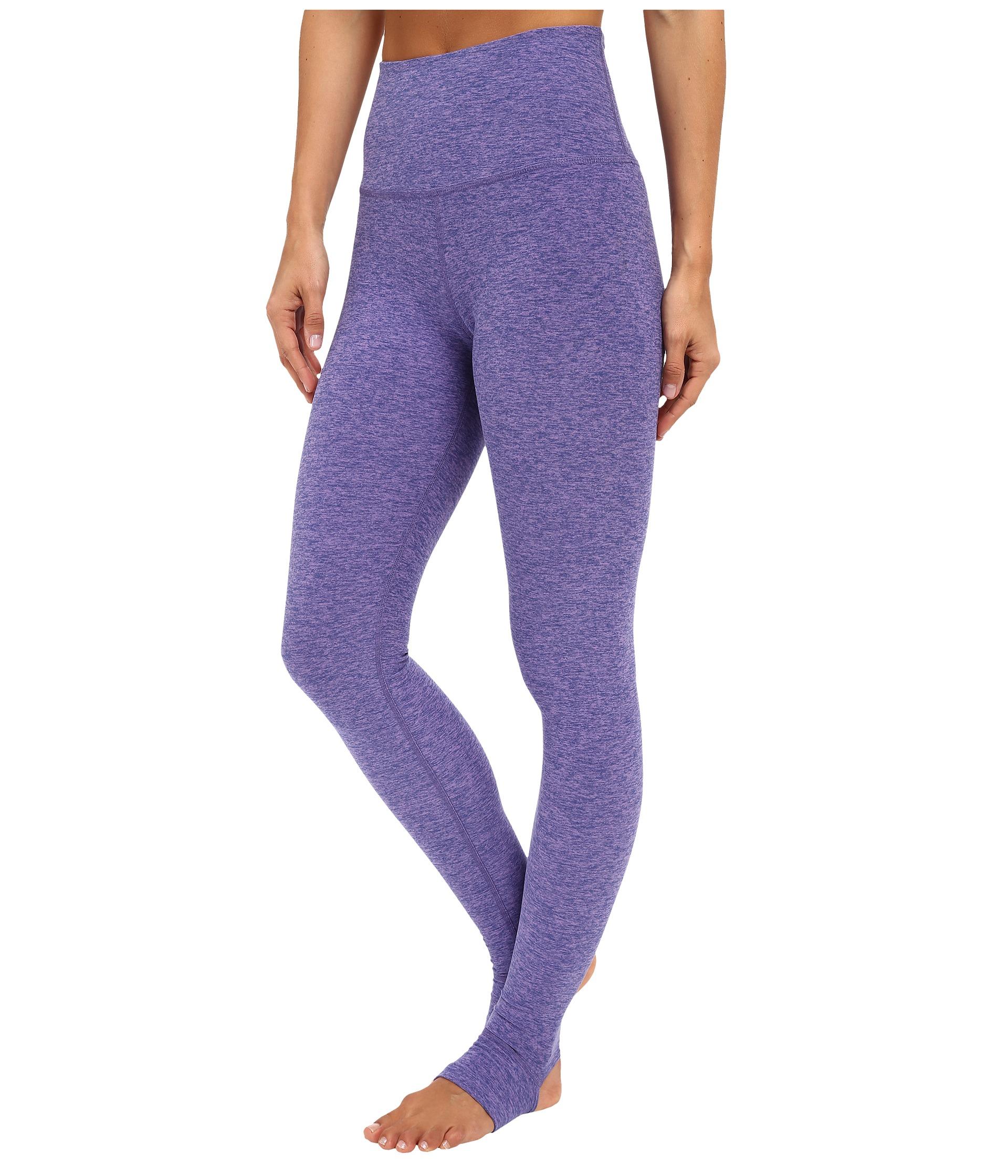 2b57fb7e48075 Beyond Yoga High Waist Stirrup Leggings in Blue - Lyst