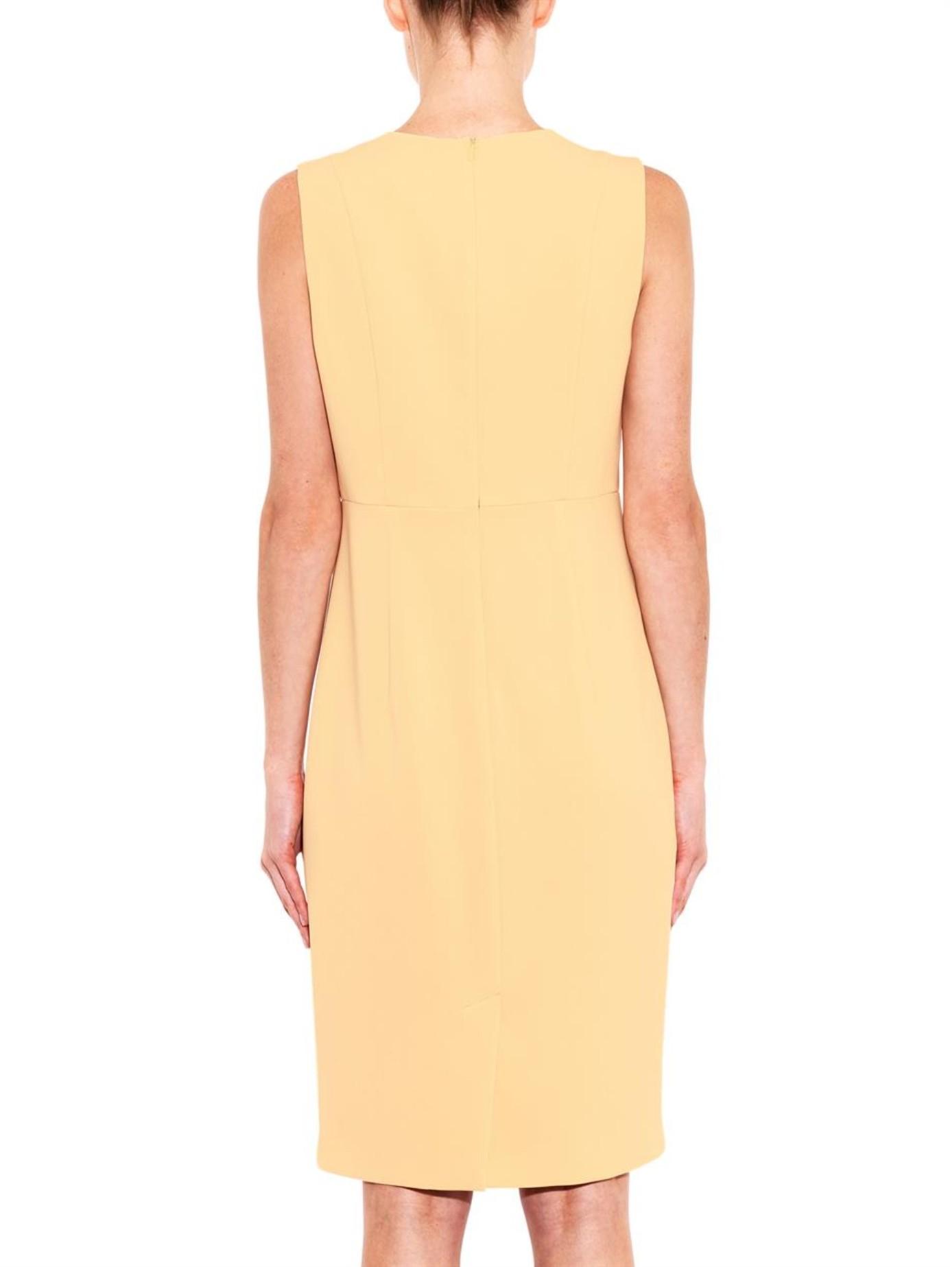 max mara studio danae dress in yellow lyst. Black Bedroom Furniture Sets. Home Design Ideas