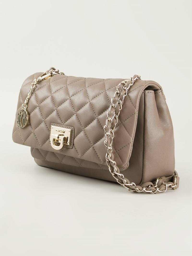 Lyst - Dkny Quilted Crossbody Bag in Gray : grey quilted bag - Adamdwight.com
