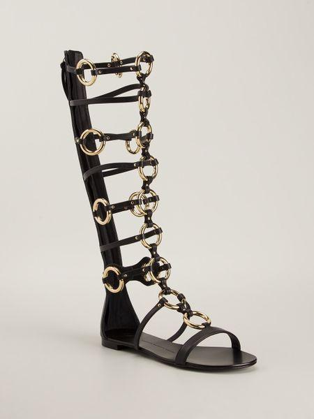 Giuseppe Zanotti Midcalf Gladiator Sandal In Black Lyst