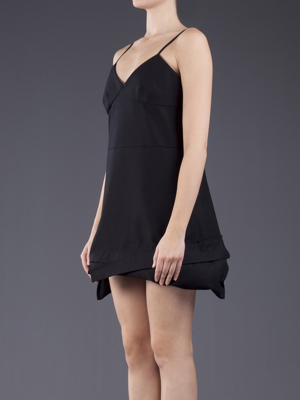 Lyst Comme Des Gar 231 Ons Hooded Dress In Black