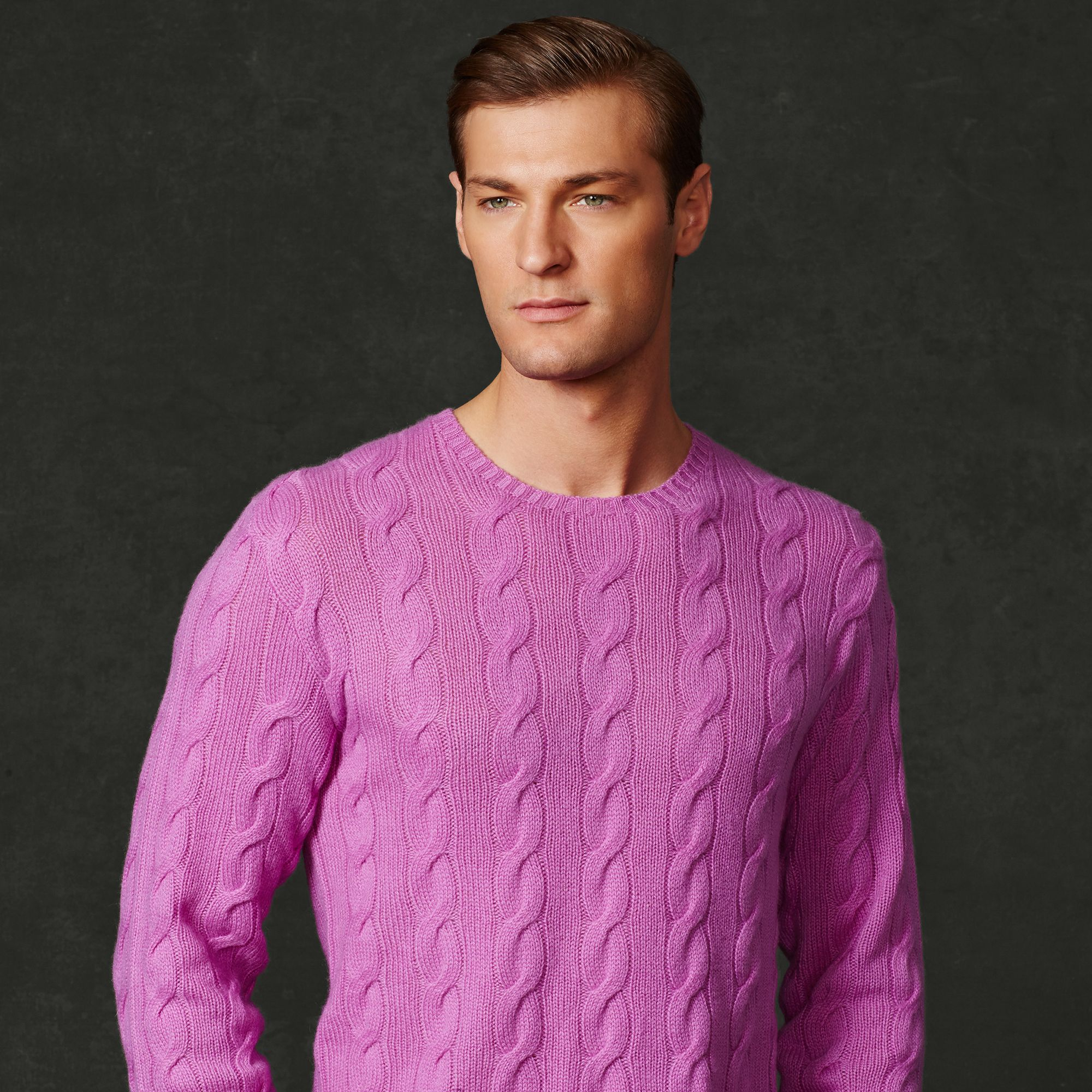 Ralph lauren purple label Cable-Knit Cashmere Sweater in Purple ...