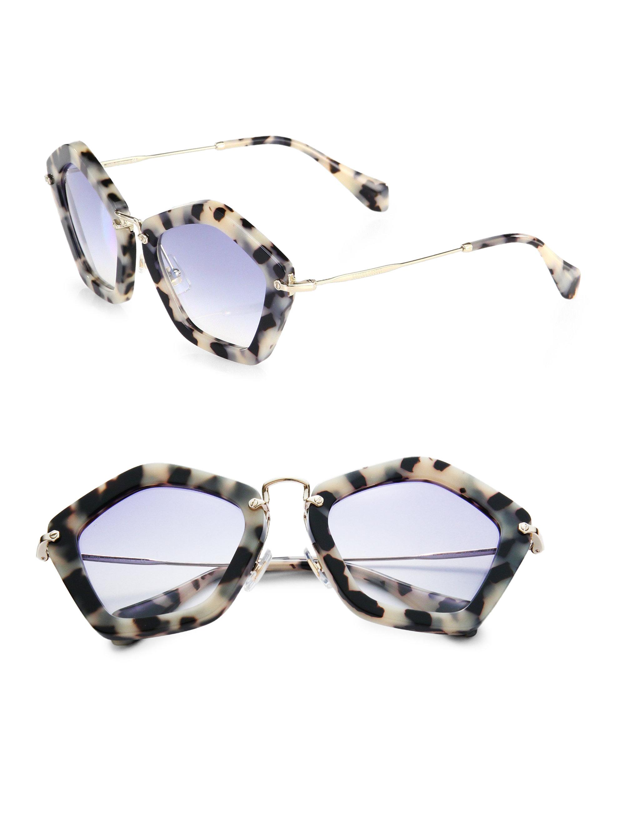 305e7c5bebc Miu Miu Black And White Sunglasses