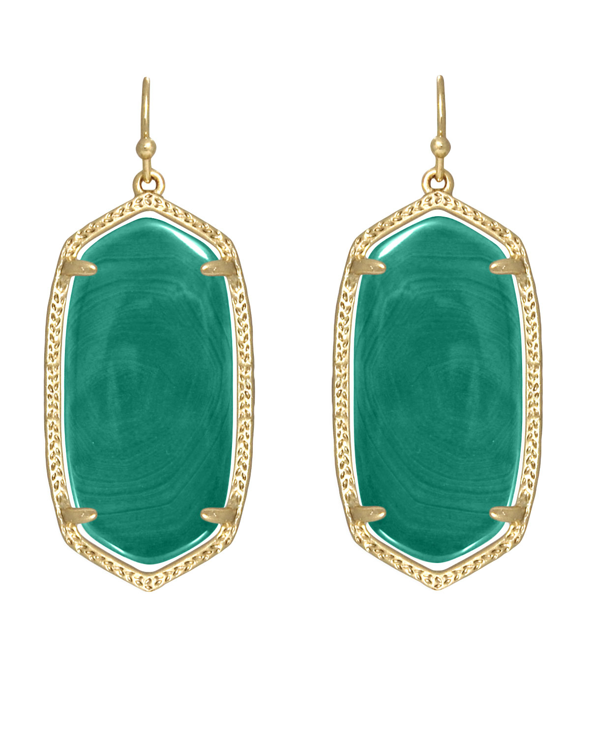 kendra scott elle earrings in green lyst