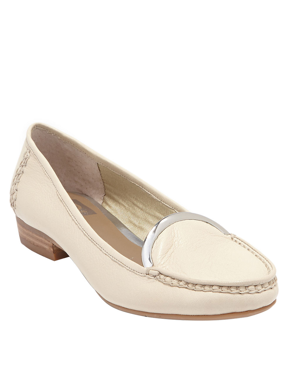 Dolce Vita Beige Leather Oxford Shoes
