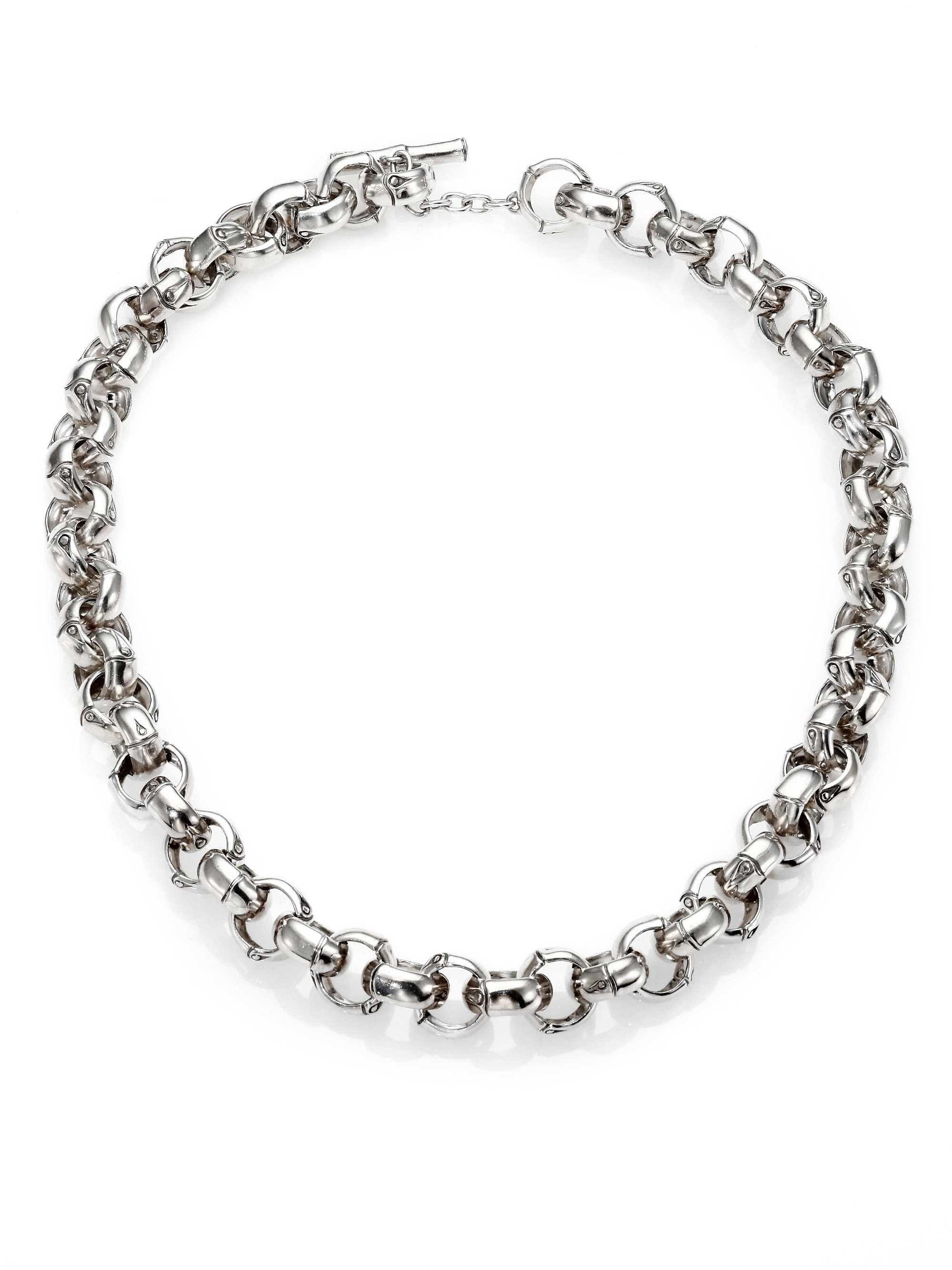 Lyst John Hardy Bamboo Sterling Silver Link Necklace In