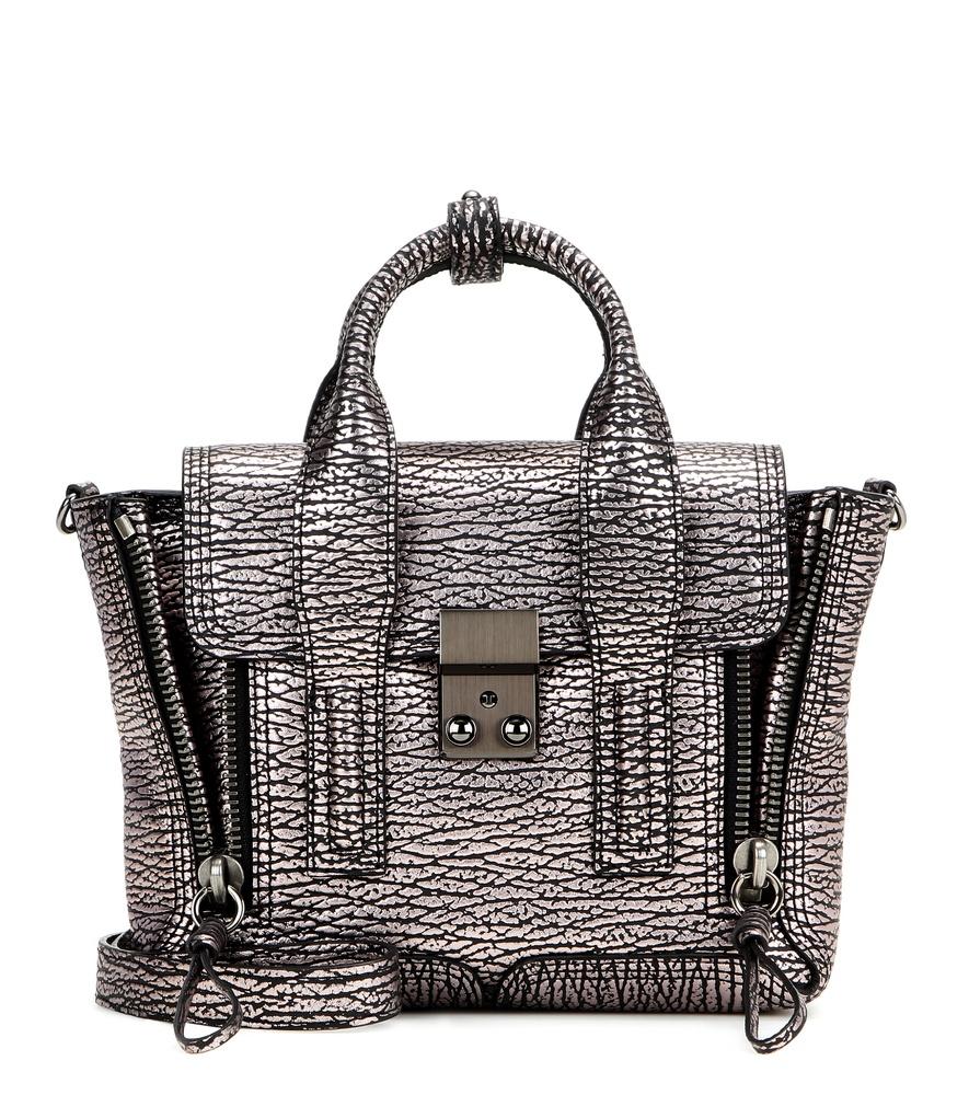 Lyst 3 1 Phillip Lim Pashli Mini Metallic Leather