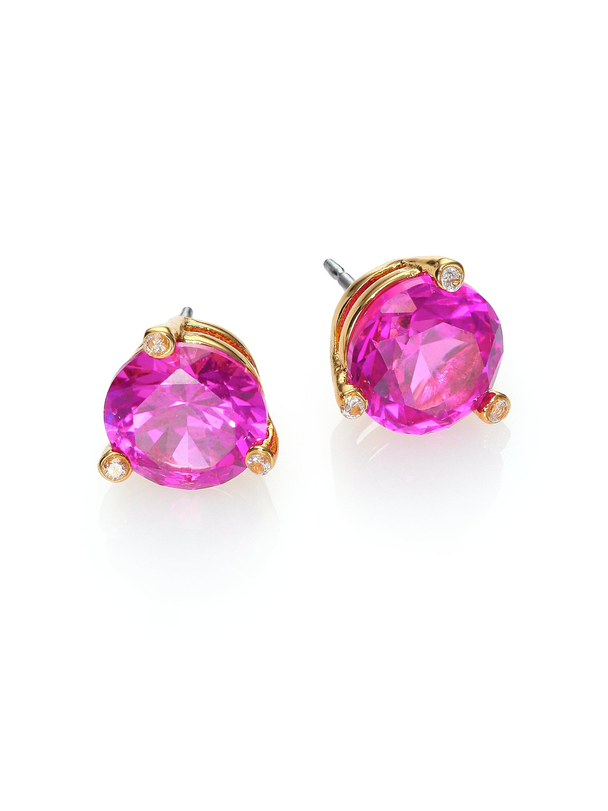 9a9c7132c Kate Spade Rise & Shine Small Stud Earrings in Metallic - Lyst