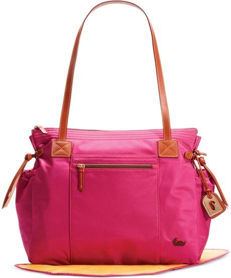 dooney bourke nylon diaper bag in pink hot pink lyst. Black Bedroom Furniture Sets. Home Design Ideas