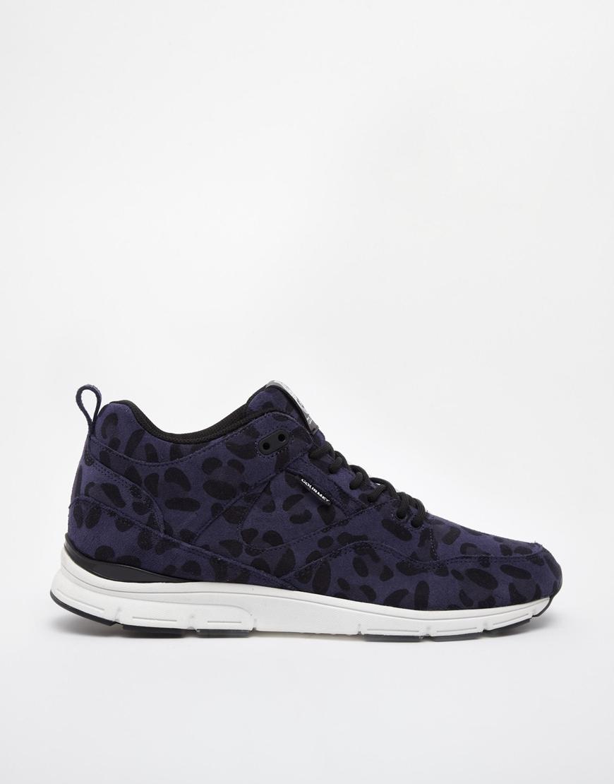 gourmet 35 leopard sneakers in blue for lyst