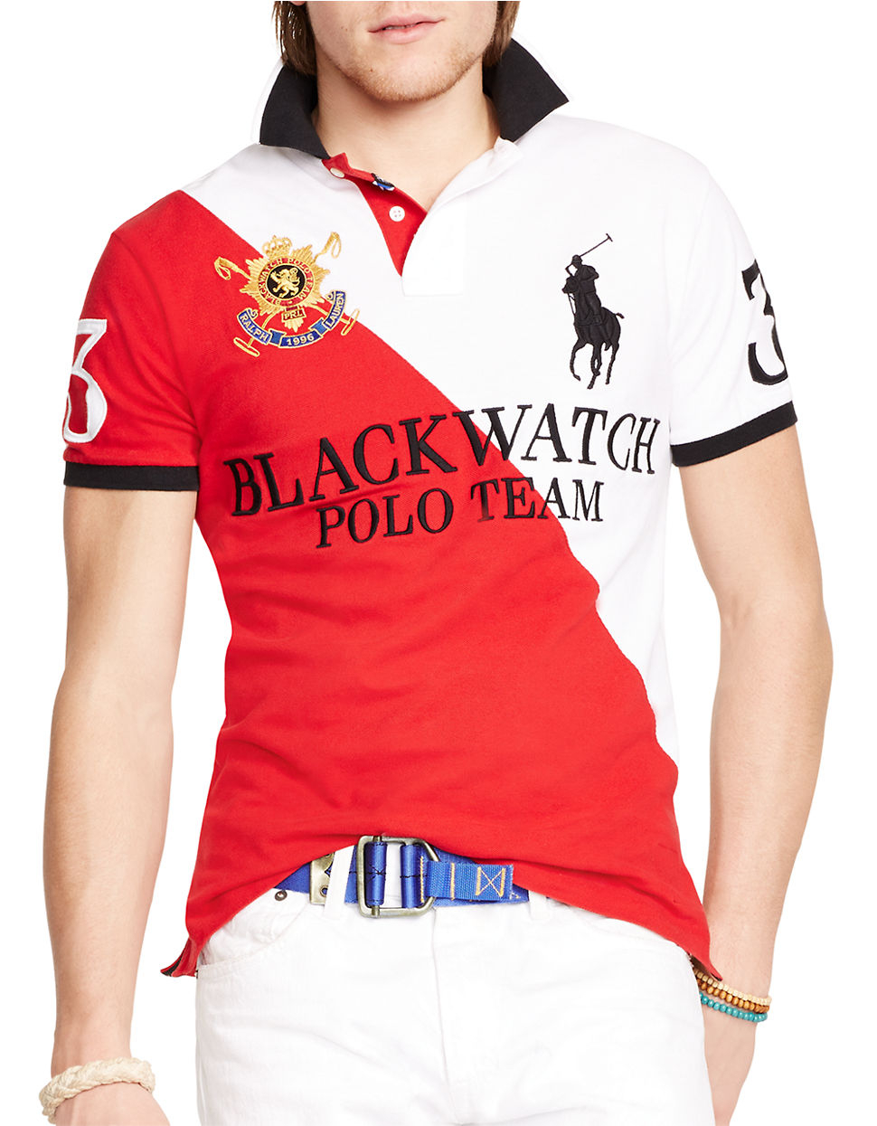 Polo Ralph Lauren Custom-Fit Long Sleeve Black Watch Polo