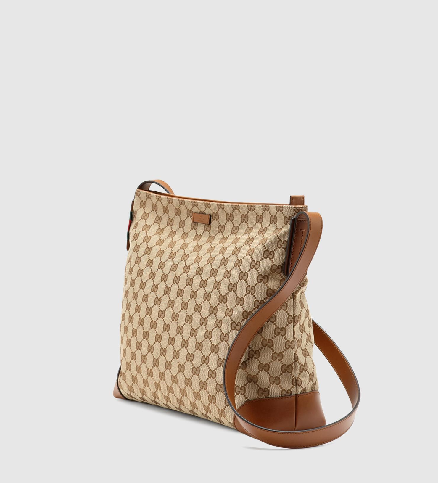 b9d827064127 Gucci Large Original Gg Canvas Messenger Bag in Brown | Lyst