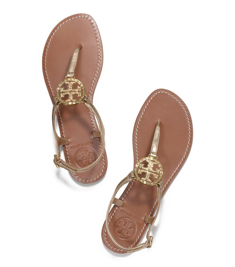 44d1911a31632 Tory Burch Violet Metallic Thong Sandal in Metallic - Lyst