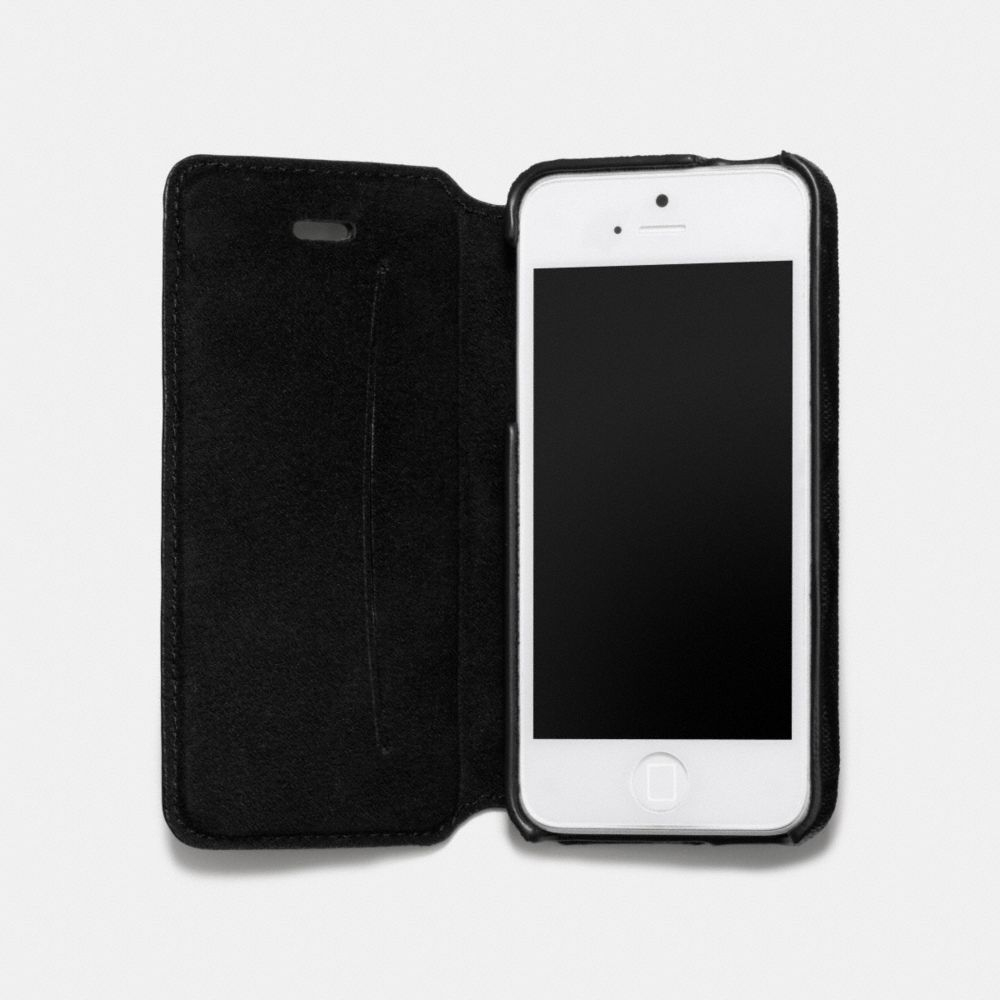 Lyst - Coach Bleecker Iphone 5 Case With Stand in Signature Coated ...