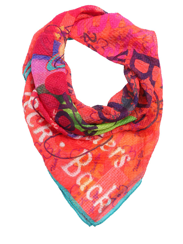 vivienne westwood printed silk georgette scarf in lyst
