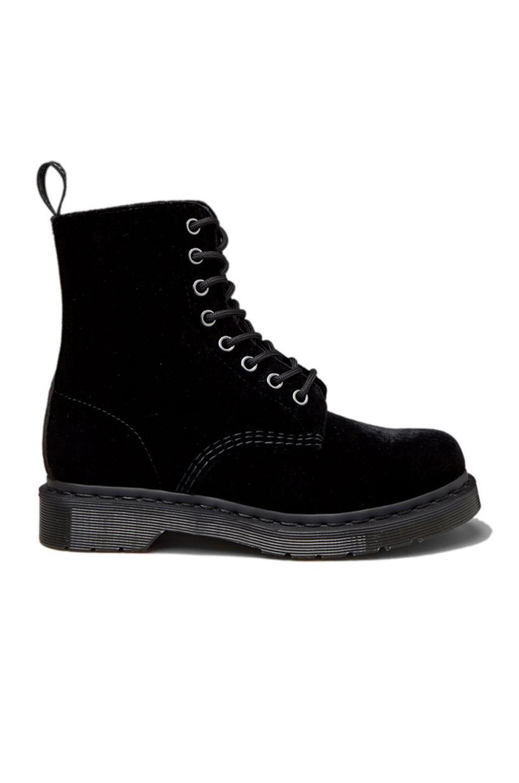 Lyst Dr Martens Page Velvet Boot In Black