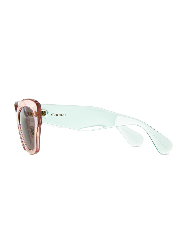 Prada Clear Cat Eye Sunglasses