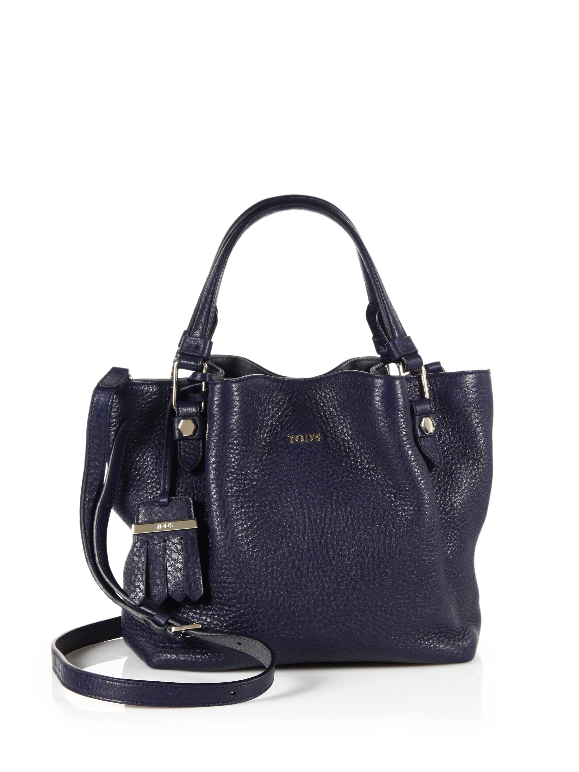 8f06e53457 Tod's Flower Mini Leather Tote in Blue - Lyst