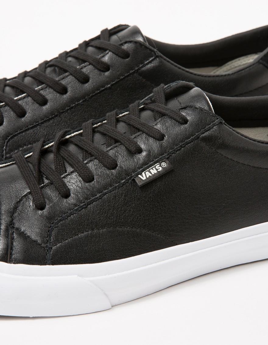 4a1d73ff7ee9 Vans Court + In Black Leather in Black for Men - Lyst