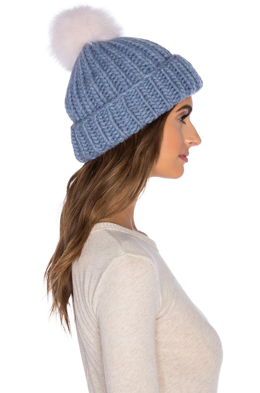 2c85561a82f Lyst - Eugenia Kim Arctic Fox Fur Rain Beanie in Blue