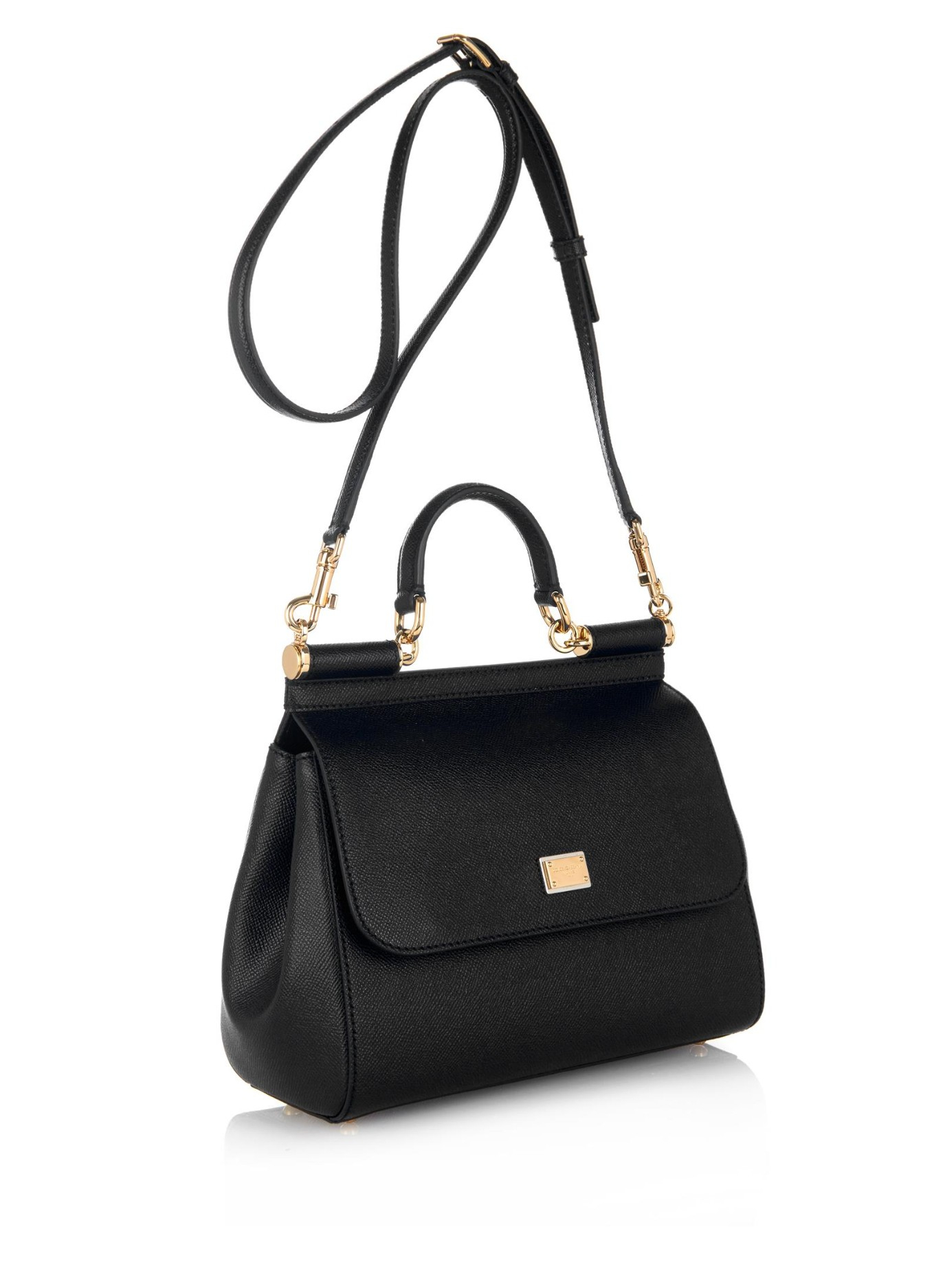 39433fd07e Lyst - Dolce   Gabbana Sicily Dauphine Medium Cross-Body Bag in Black