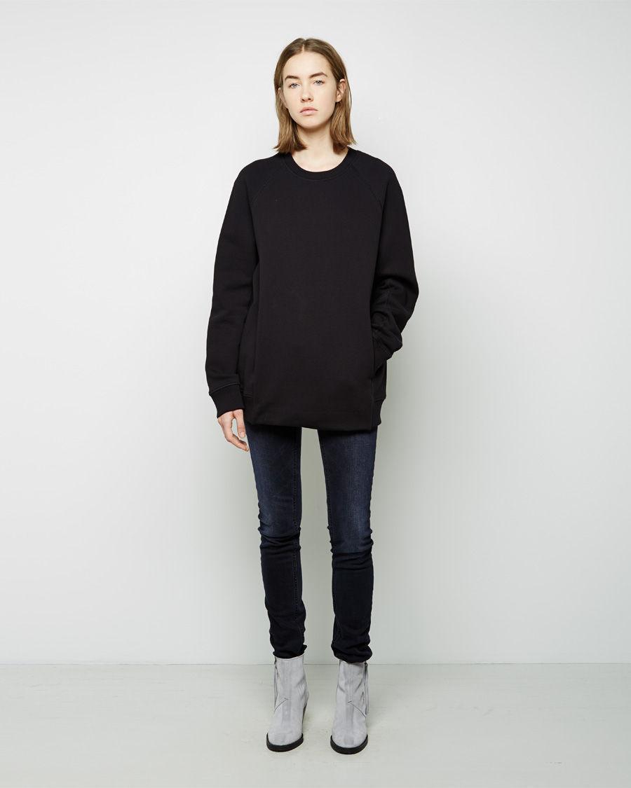 Acne studios Nikoleta Oversized Fleece Pullover in Black | Lyst