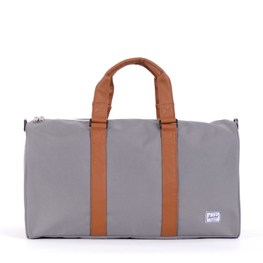 Gym Bag Herschel: Herschel Supply Co. Grey & Tan Ravine Duffel Bag In Gray