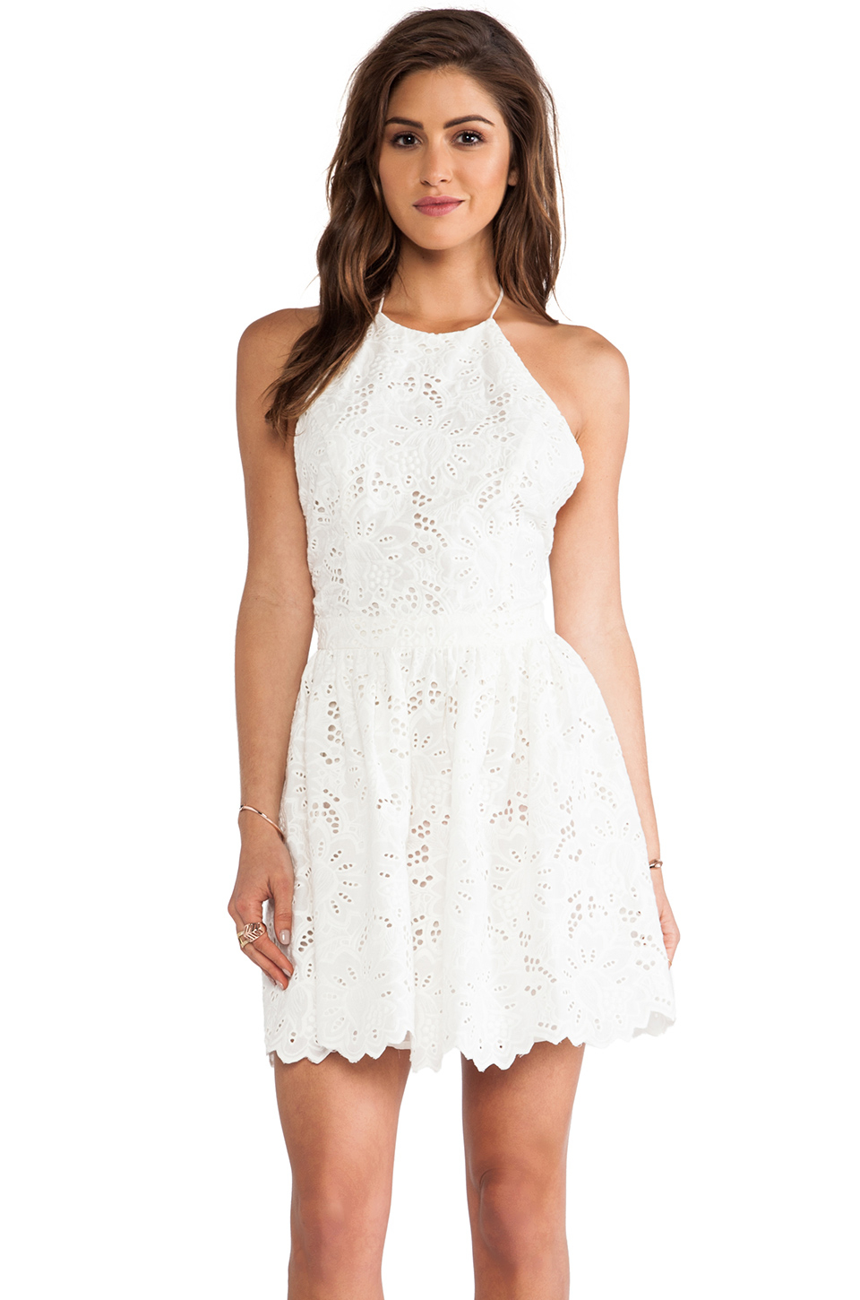Lyst Zimmermann Roamer Halter Dress In White