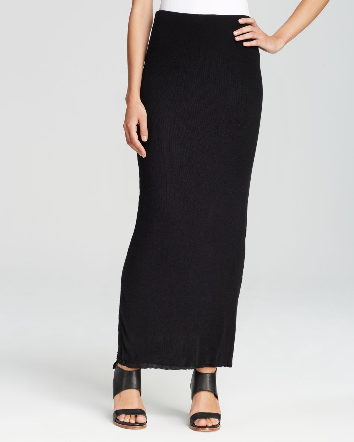Black Pencil Maxi Skirt