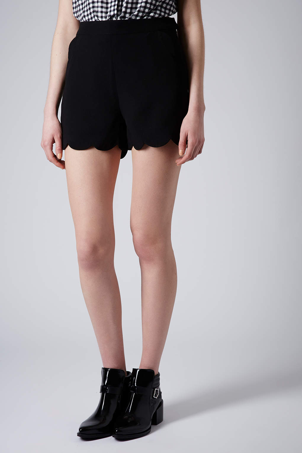 Shop Lucas Scalloped Crepe Shorts, Black from A.L.C. at Bergdorf Goodman, where you'll find free shipping on a fantastic selection of unparalleled designer fashion.