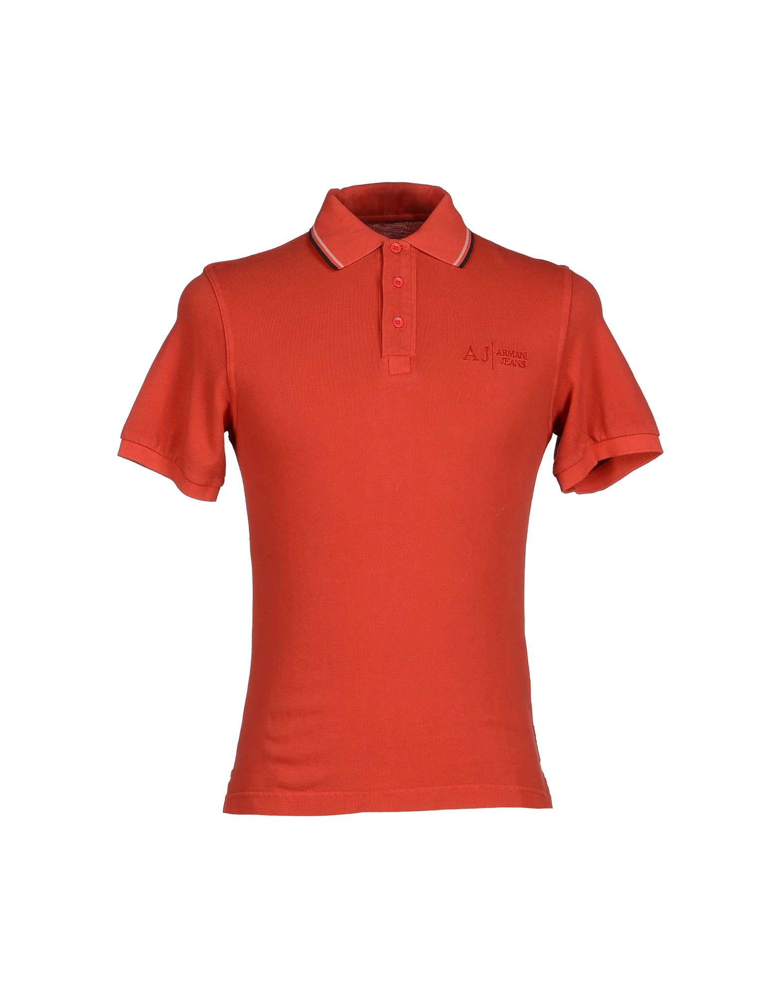 Lyst armani jeans polo shirt in red for men for Polo shirt and jeans