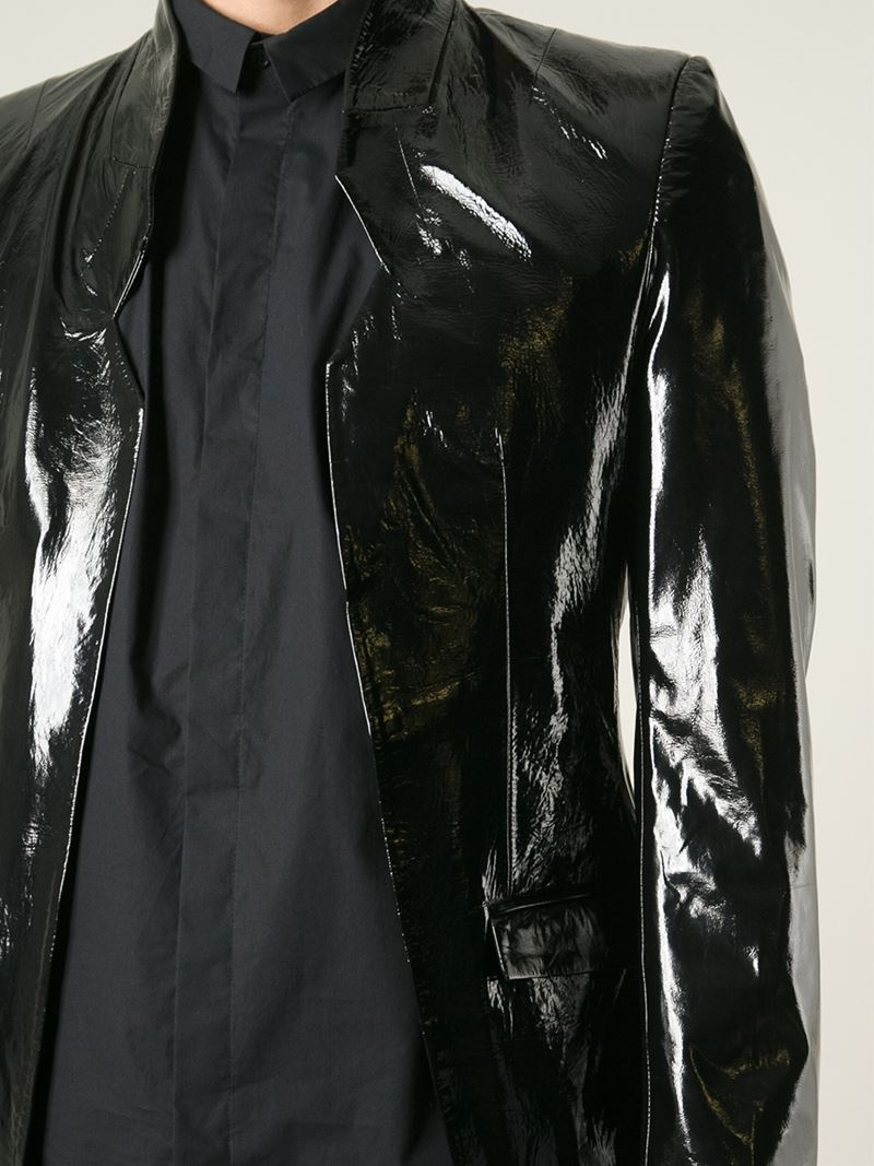 Lyst Unconditional Patent Leather Blazer In Black For Men