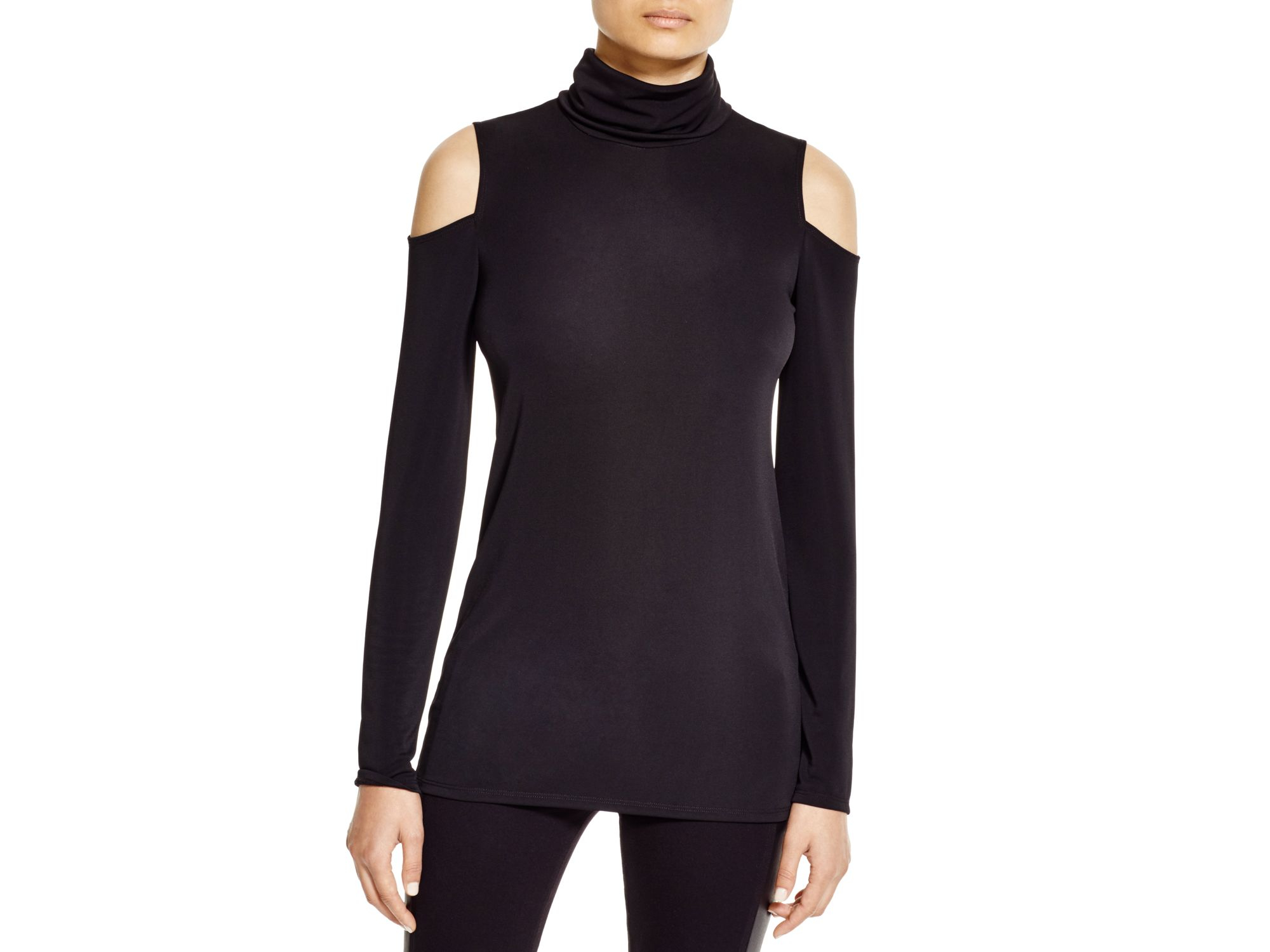 Dkny Turtleneck Cold Shoulder Shirt - Bloomingdale's Exclusive in ...