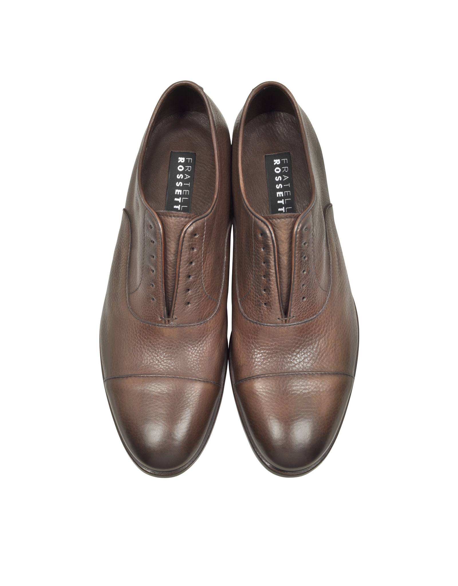 Fratelli Rossetti Metallic Leather Oxfords buy online outlet sale sast jIB0uYm4y