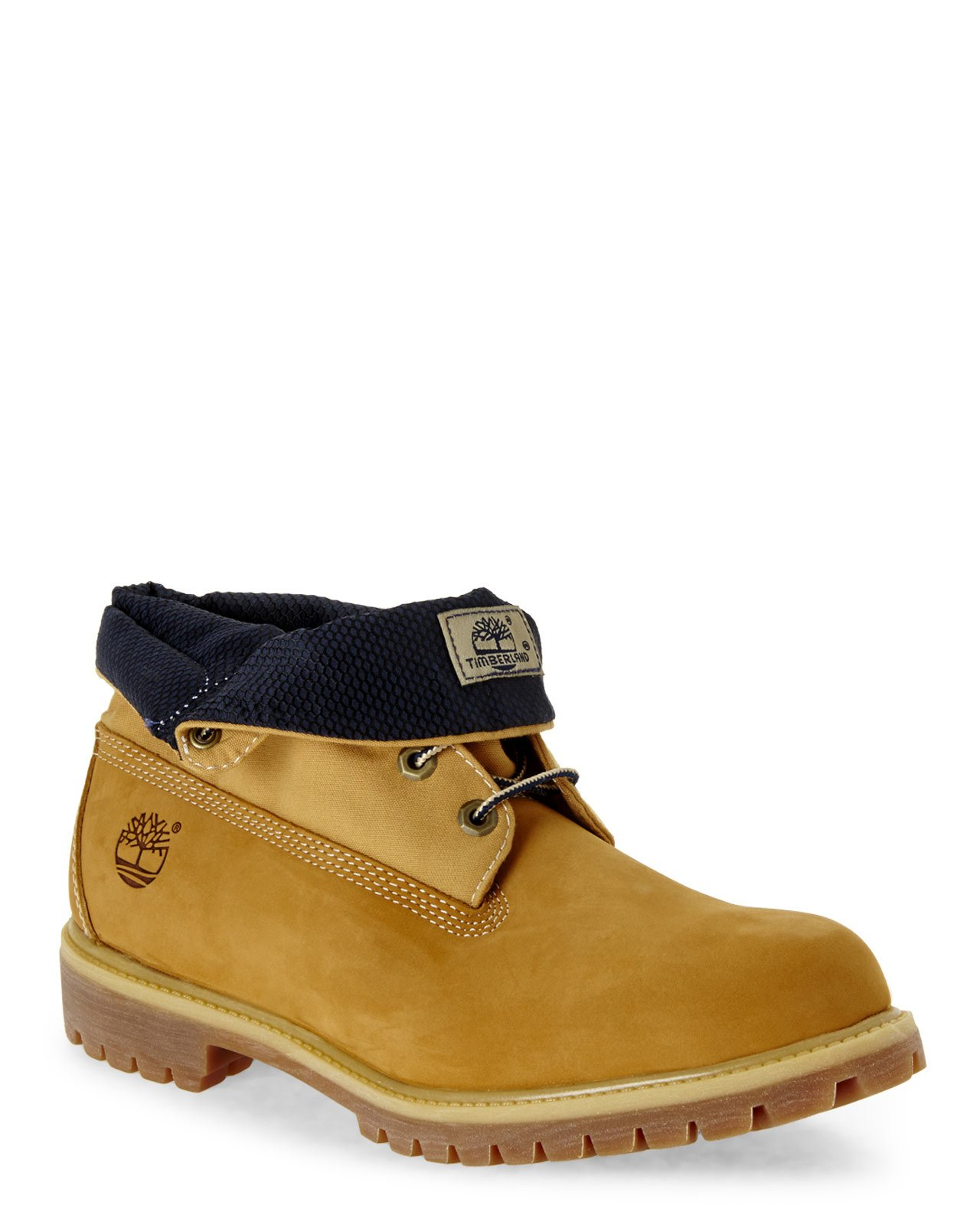 purchase cheap f33de 59c1f Timberland Wheat   Navy Af Roll Top Boots in Natural for Men - Lyst