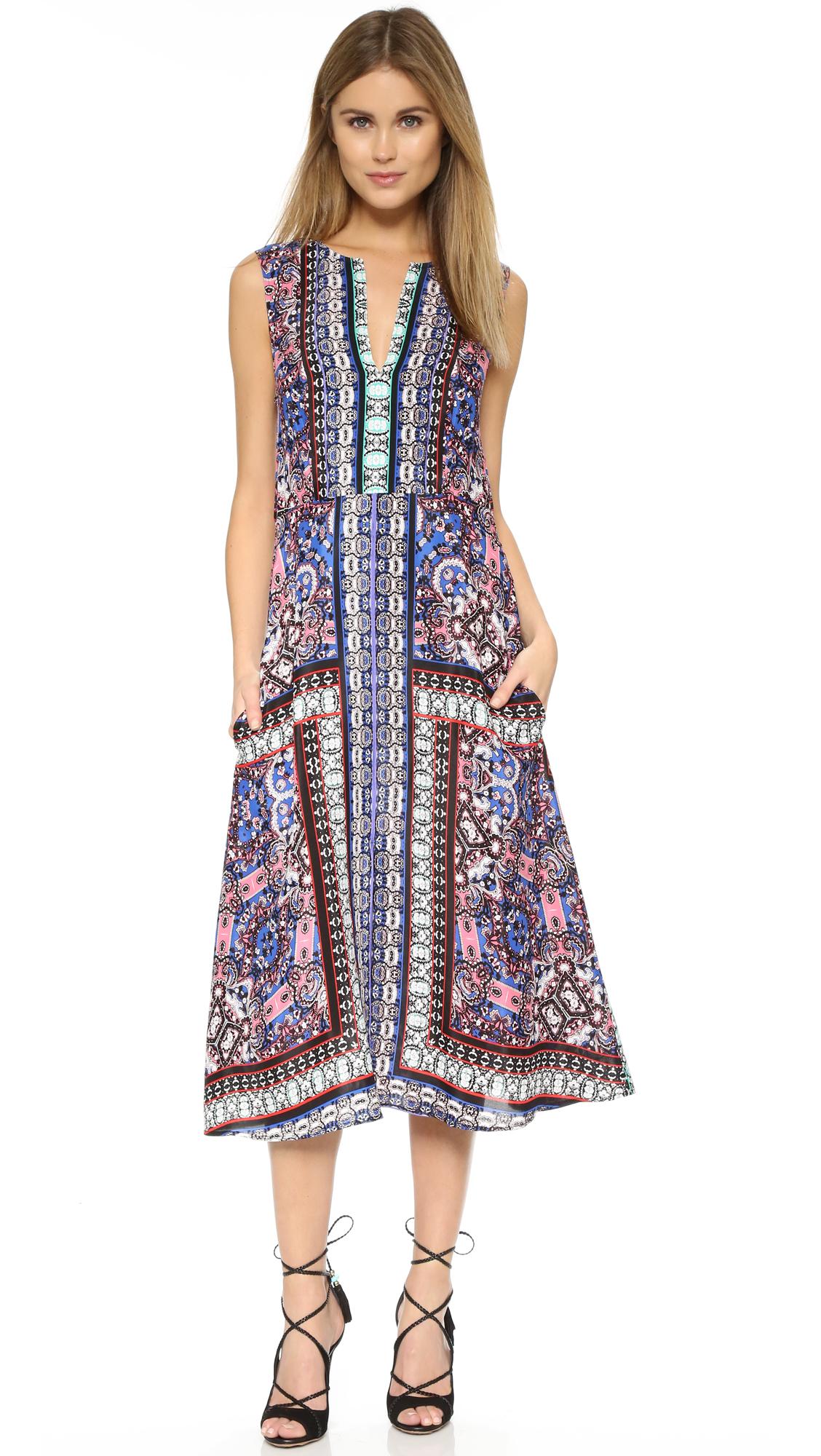 Mirrored neck maxi dress