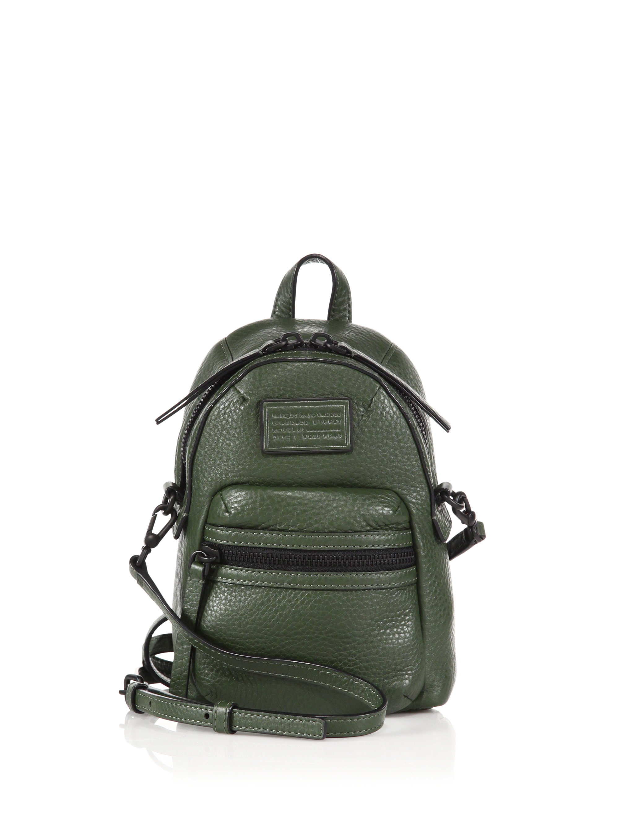dad3bc3b5273 Lyst - Marc By Marc Jacobs Domo Biker Mini Leather Backpack in Green