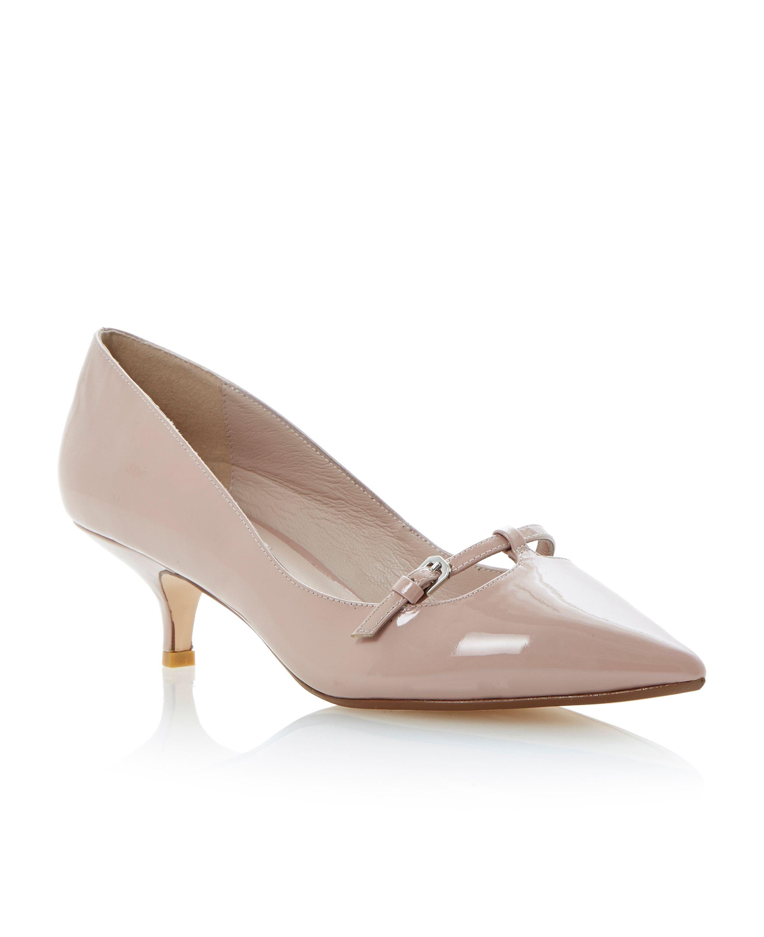 Patent Kitten Heel Shoes