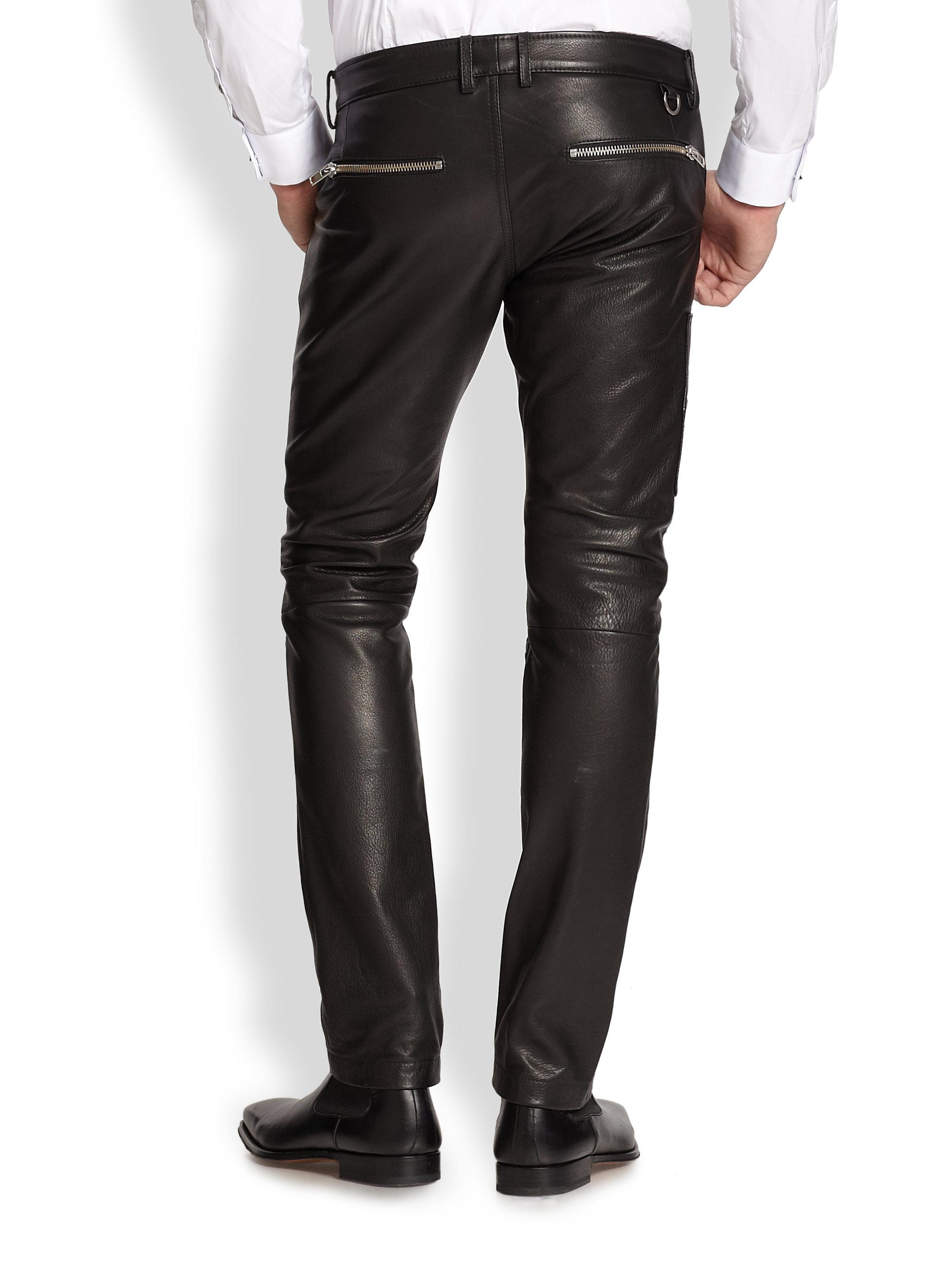 Lyst - Diesel Zip-Pocket Leather Pants in Black for Men