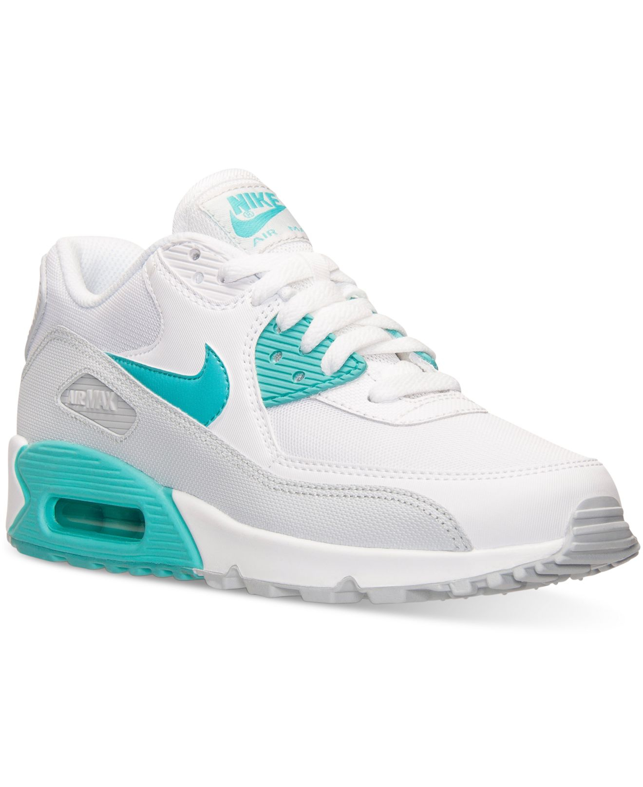 0c08589447817c Lyst - Nike Women s Air Max 90 Essential Running Sneakers From Finish Line  in White