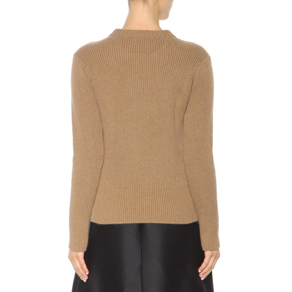 Burberry Embellished Wool And Cashmere Sweater in Natural | Lyst