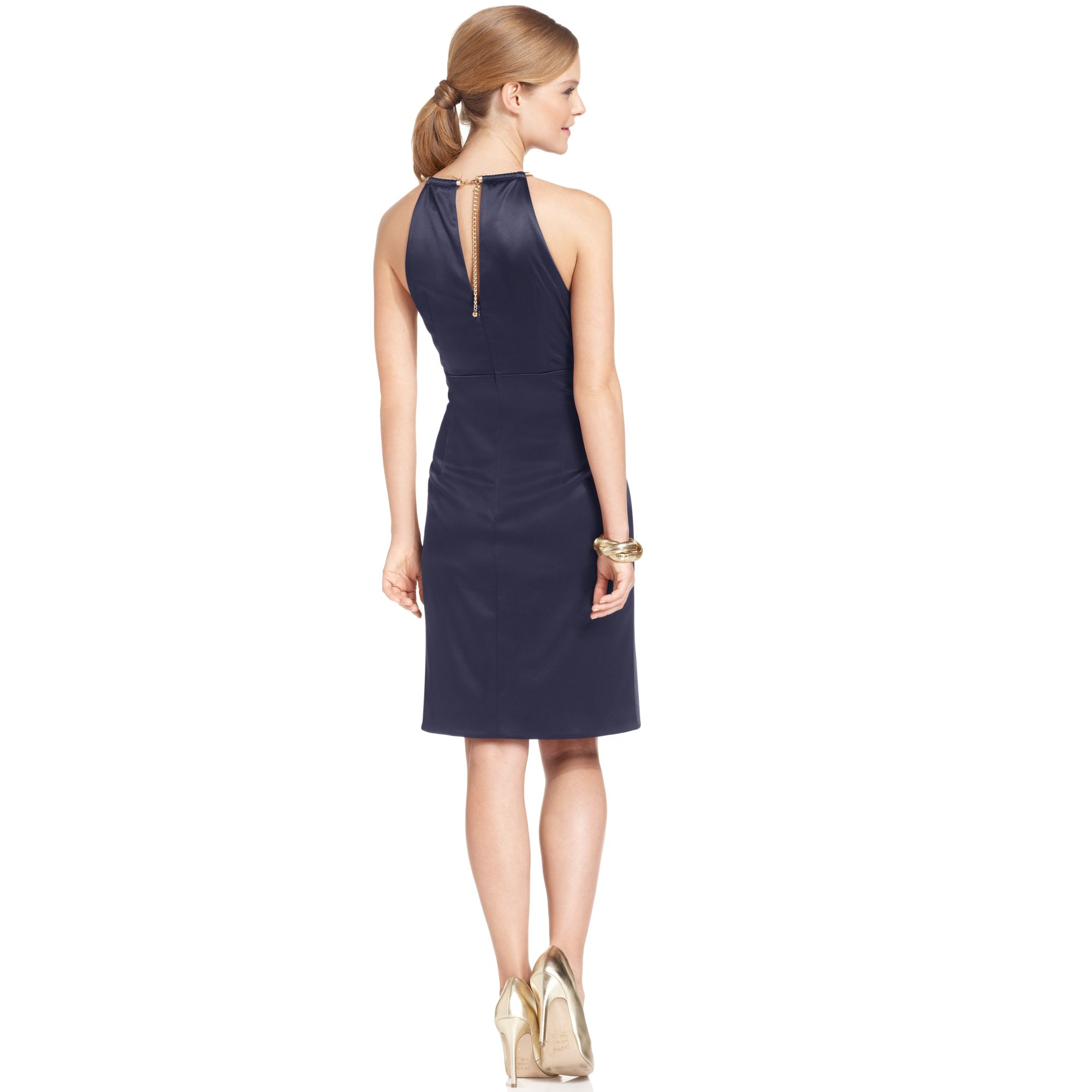 Turmec » eliza j halter satin dresses